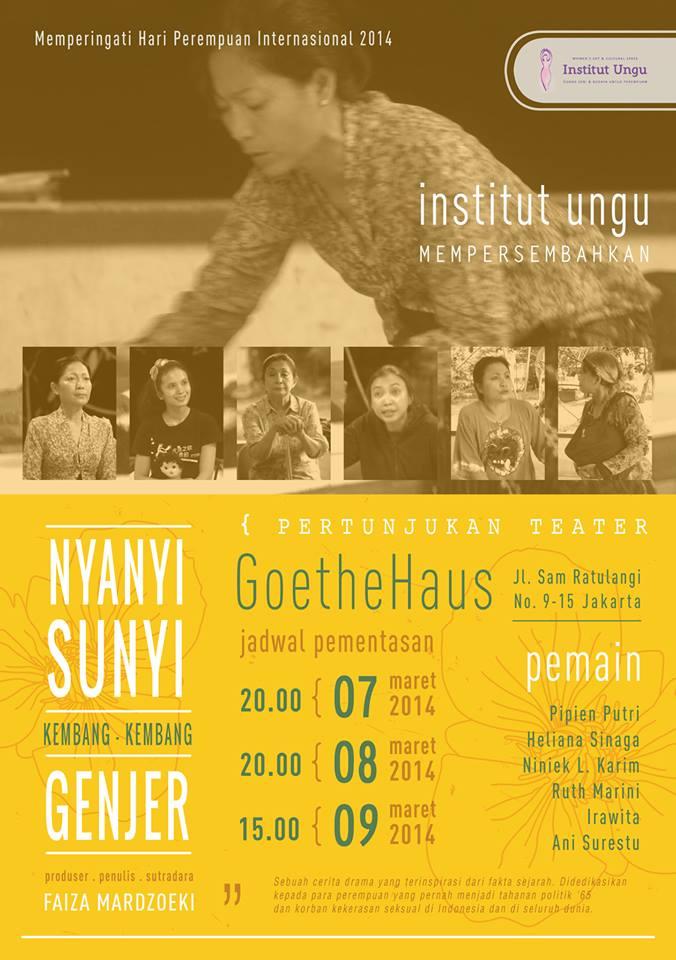 Poster Nyanyi Sunyi Kembang Genjer